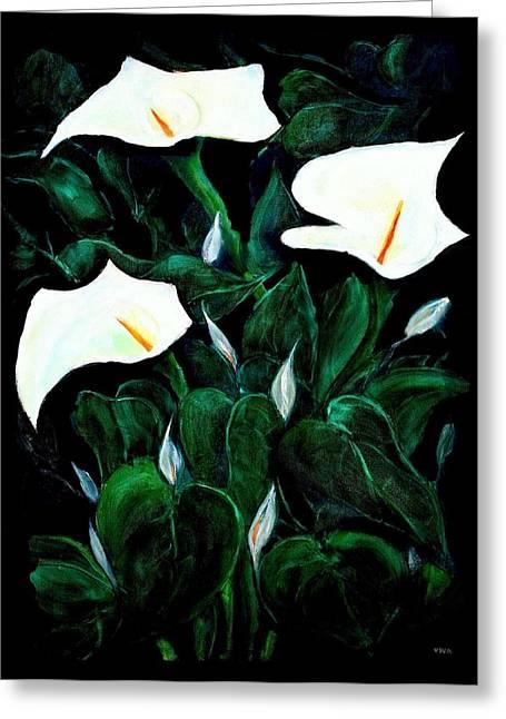 Garden Lilies Greeting Card