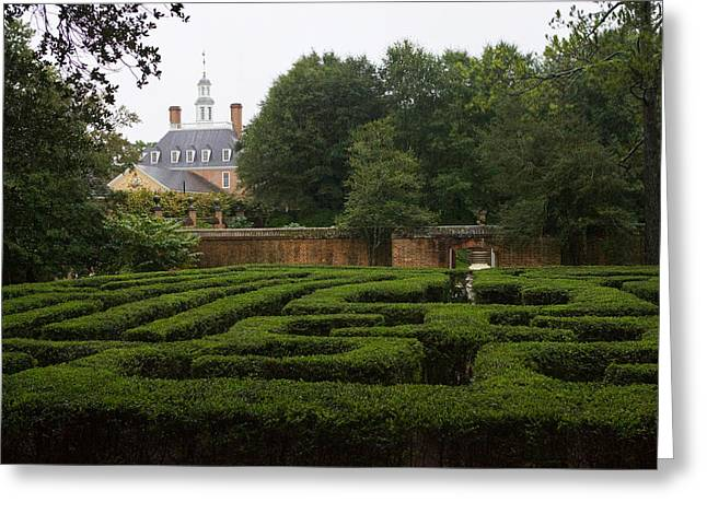 Garden Maze At Governors Palace Greeting Card