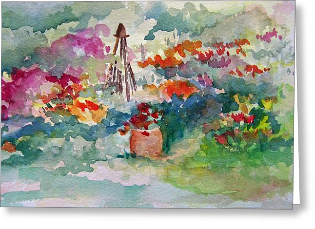 Garden Memories Greeting Card by Sandy Collier