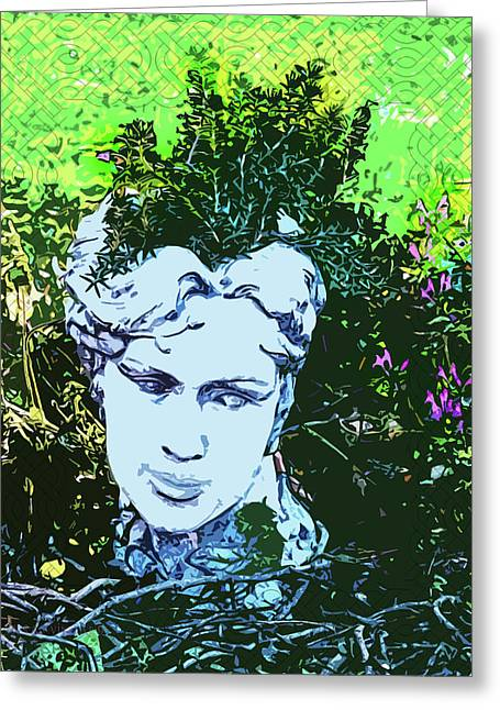 Garden Nymph Head Planter Greeting Card