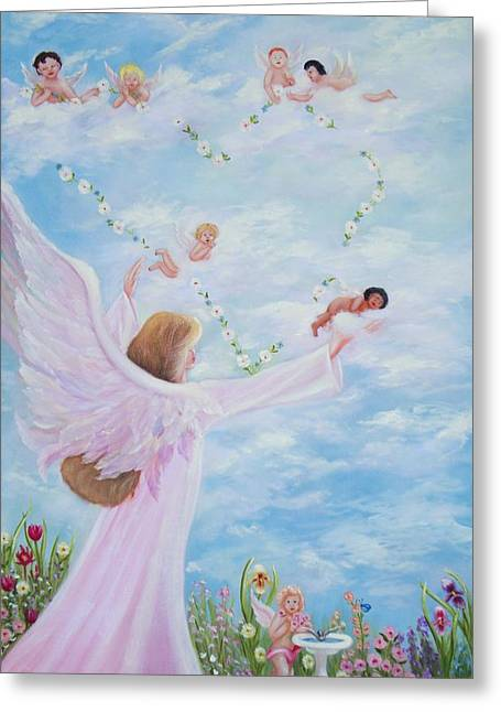 Garden Of Angels Greeting Card by Joni McPherson