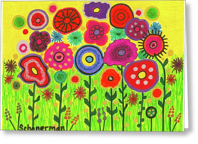 Garden Of Blooming Brilliance Greeting Card