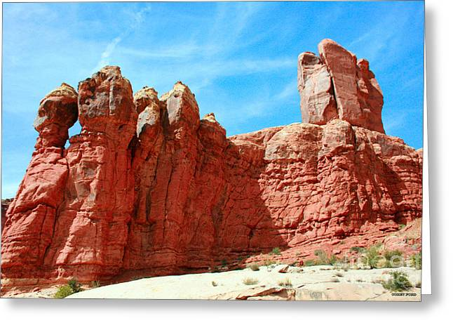 Garden Of Eden Arches National Park, Utah Usa Greeting Card