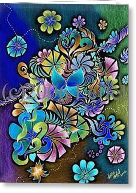 Garden Of Eden Invert Greeting Card by Hollie Leffel