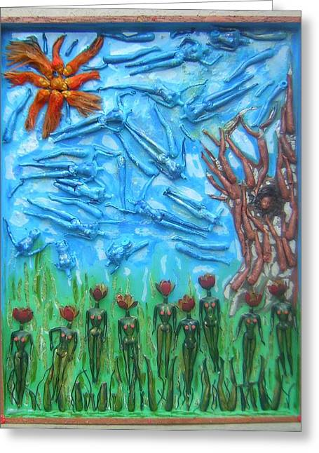 Garden Of Eden Nature Overwhelming Itself Greeting Card by Michelley QueenofQueens