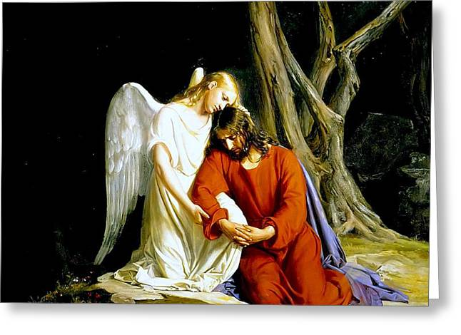 Garden Of Gethsemane 1873 Carl Heinrich Bloch  Greeting Card by Movie Poster Prints
