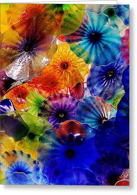 Garden Of Glass Triptych 3 Of 3 Greeting Card by Benjamin Yeager