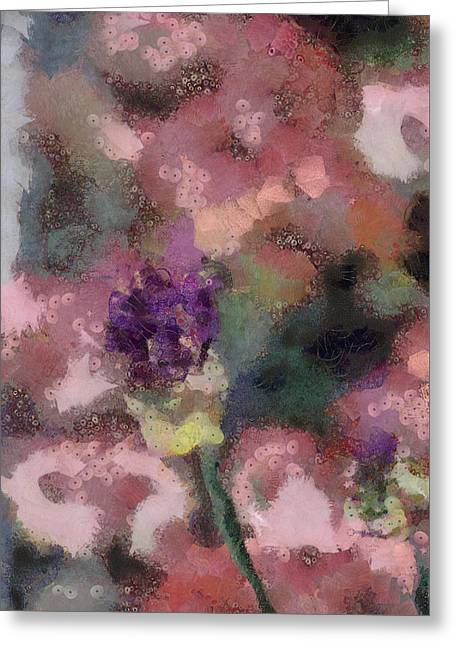 Greeting Card featuring the mixed media Garden Of Love by Trish Tritz