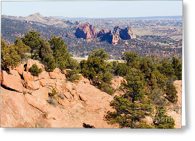 Garden Of The Gods And Springs West Side Greeting Card