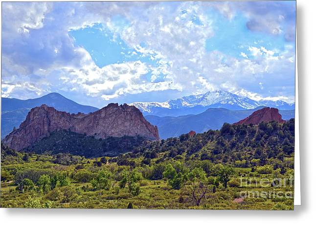 Garden Of The Gods Greeting Card by Catherine Sherman