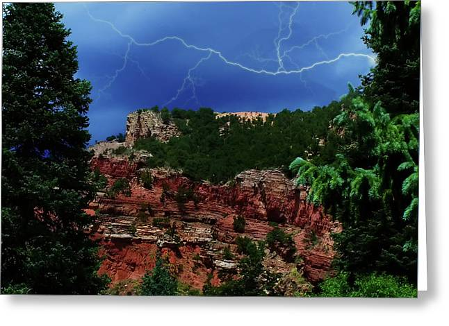 Greeting Card featuring the digital art Garden Of The Gods by Chris Flees