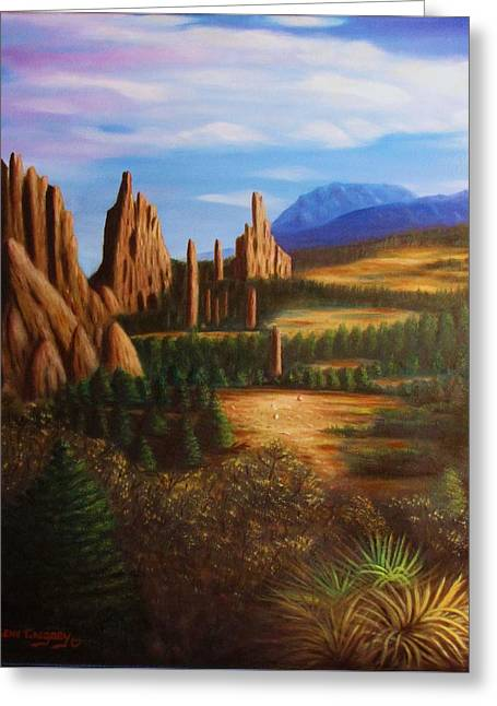 Garden Of The Gods.  Greeting Card