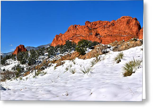 Greeting Card featuring the photograph Garden Of The Gods Red And White by Adam Jewell