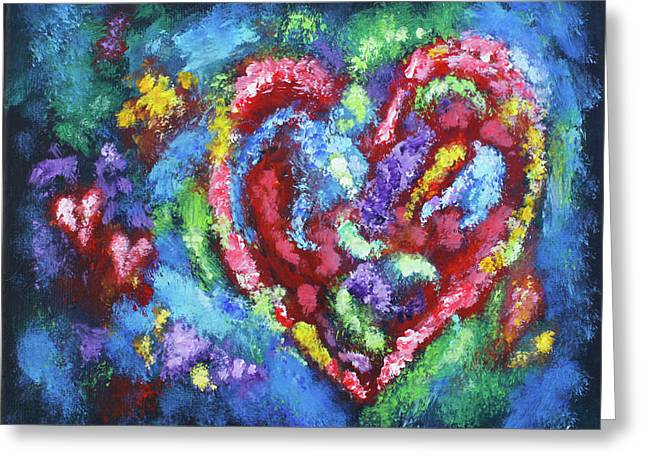 Garden Of The Heart Greeting Card by Diana Haronis