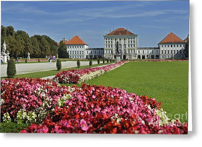 Garden Outside Of German Castle Greeting Card by Manfred Bail
