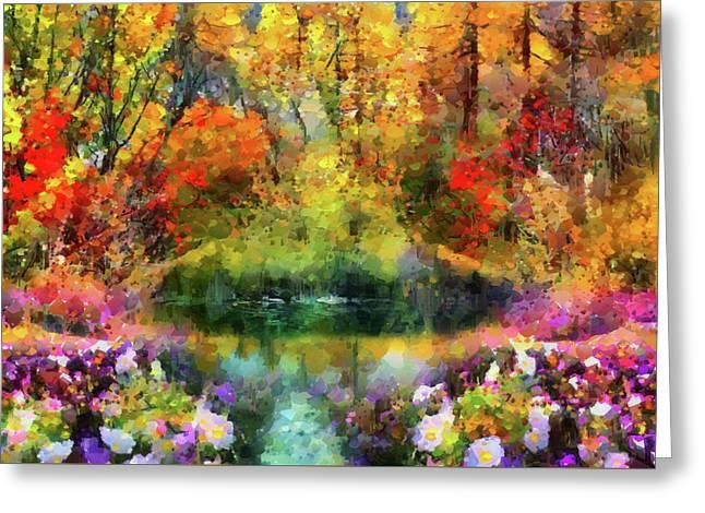 Garden Paradise Greeting Card by Georgiana Romanovna