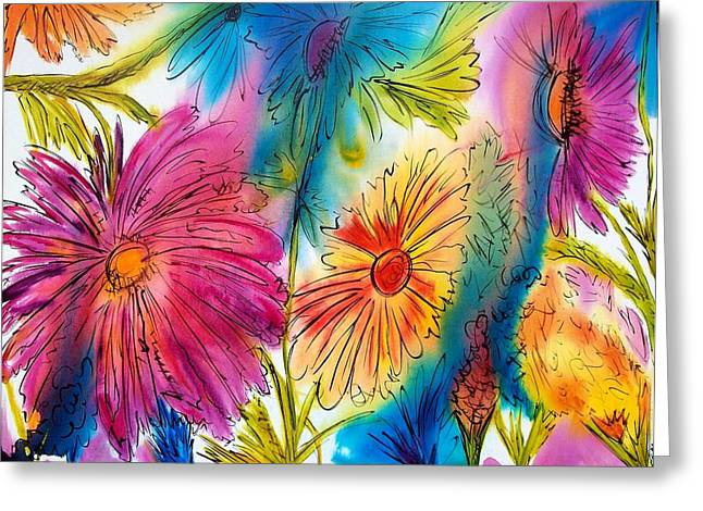 Garden Party Greeting Card by Jane Robinson