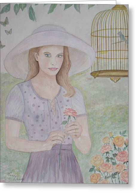 Garden Party Greeting Card by Patti Lennox