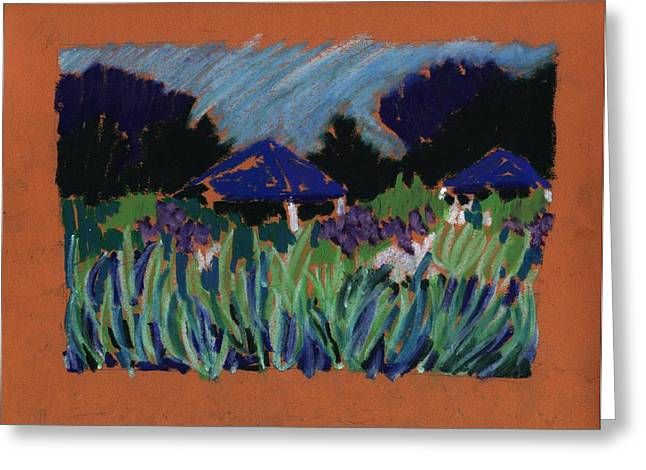 Iris Pastels Greeting Cards - Garden Party Greeting Card by Rodger Ellingson