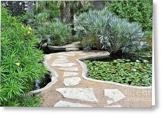 Greeting Card featuring the photograph Garden Path  by James Fannin