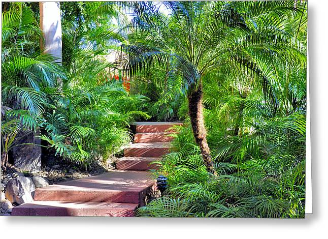 Garden Path Greeting Card by Jim Walls PhotoArtist