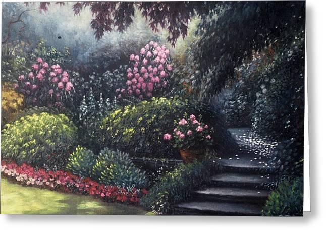Garden Path Greeting Card by Scott Jones