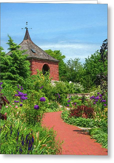 Garden Path Greeting Card by Trey Foerster