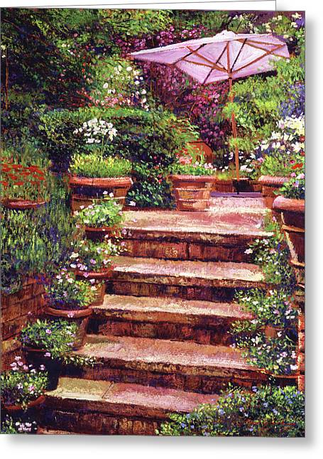 Garden Patio Stairway Greeting Card