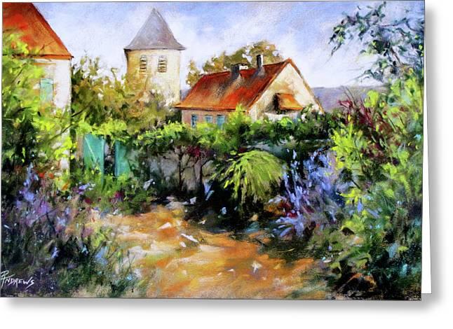 Garden Pleasures Greeting Card by Rae Andrews