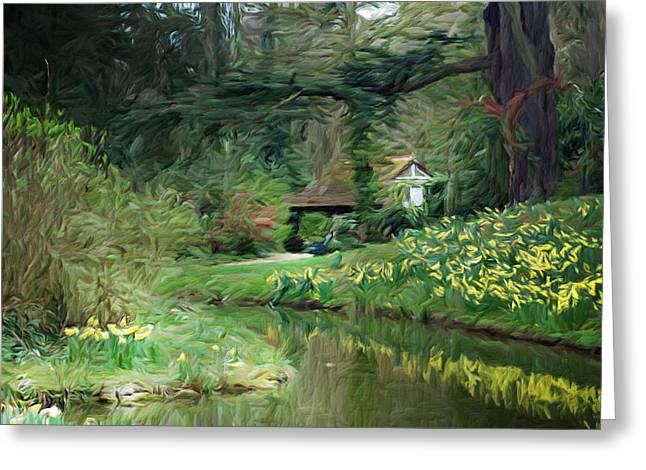Garden Pond Greeting Card