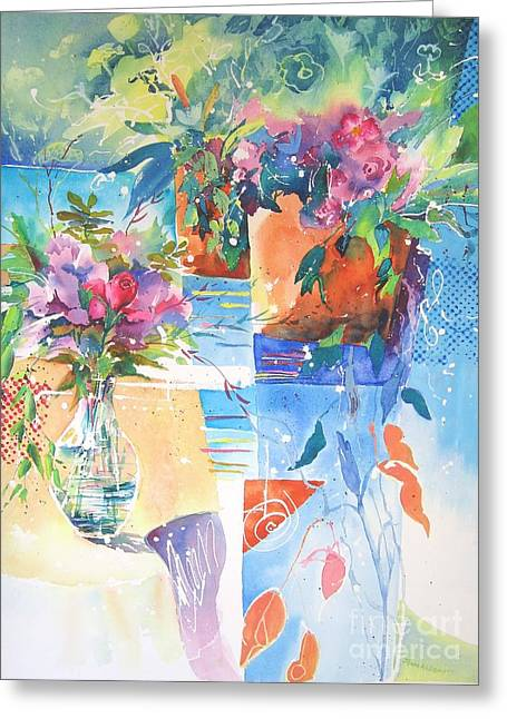 Garden Pool Greeting Card
