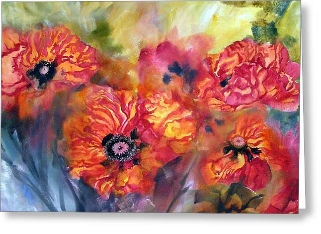 Garden Poppies Greeting Card