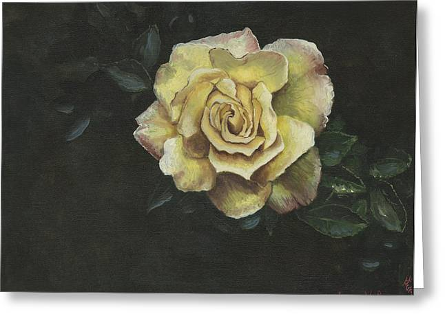 Garden Rose Greeting Card by Jeff Brimley