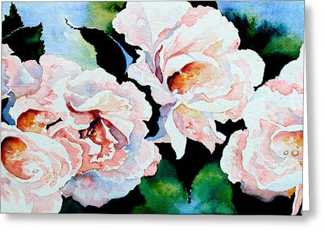 Garden Roses Greeting Card by Hanne Lore Koehler