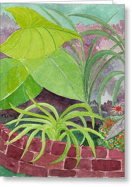 Garden Scene 9-21-10 Greeting Card by Fred Jinkins
