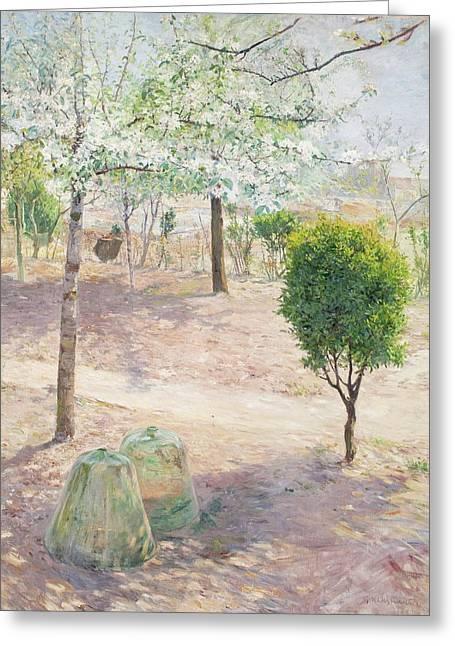 Garden Scene From Grez Greeting Card