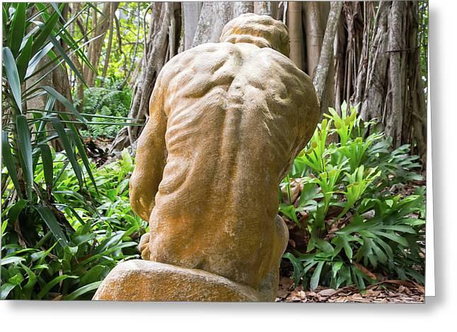 Garden Sculpture 1 Greeting Card