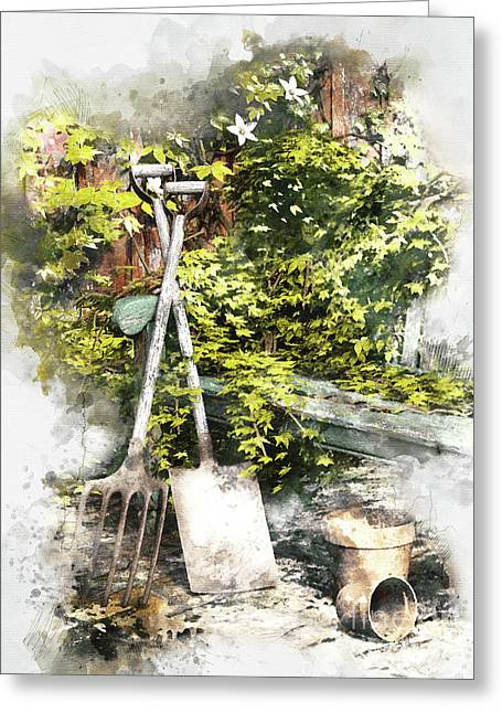 Garden Seat Greeting Card by Shanina Conway