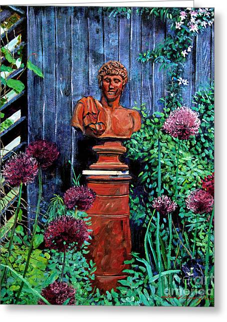 Garden Statue Greeting Card by David Lloyd Glover