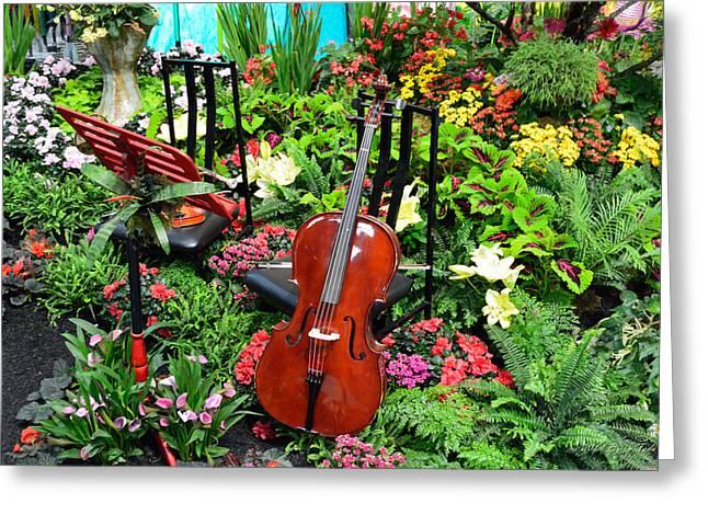 Garden Symphony Greeting Card