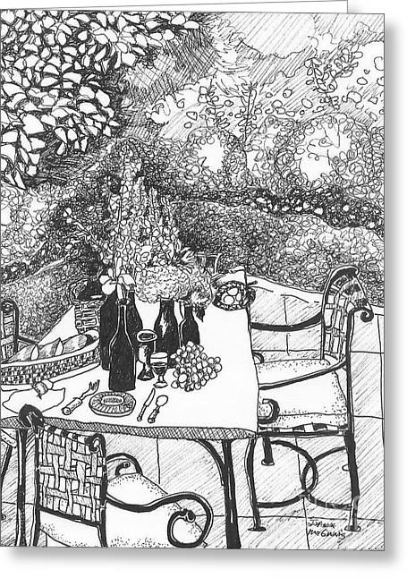 Garden Table Greeting Card