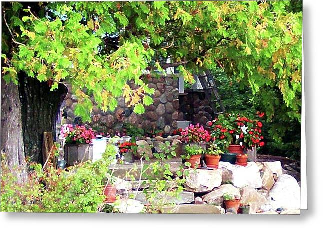 Garden Terrace Greeting Card by Desiree Paquette