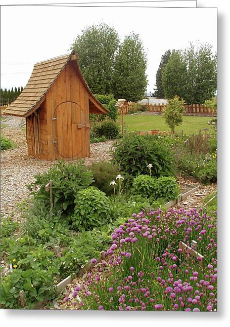 Garden Toolshed, 2005 Greeting Card by Leizel Grant