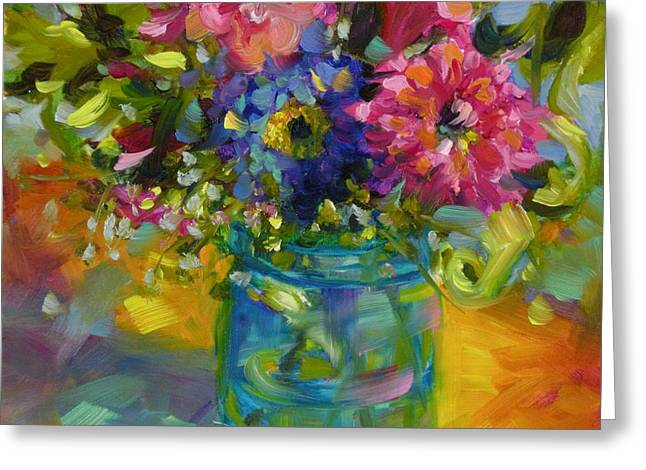 Greeting Card featuring the painting Garden Treasures by Chris Brandley