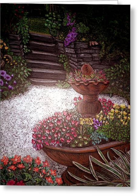 Garden View Greeting Card by Michelle Audas