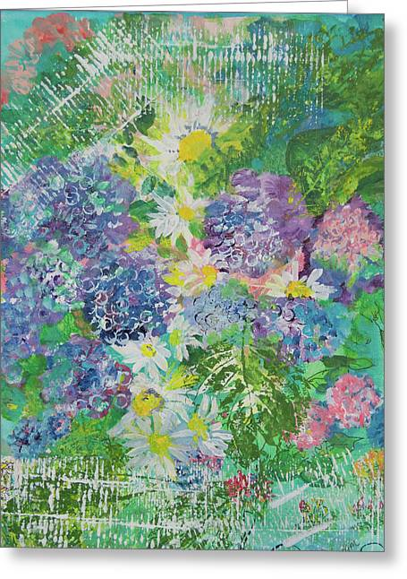 Garden View Greeting Card