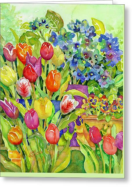 Garden Visitors Greeting Card