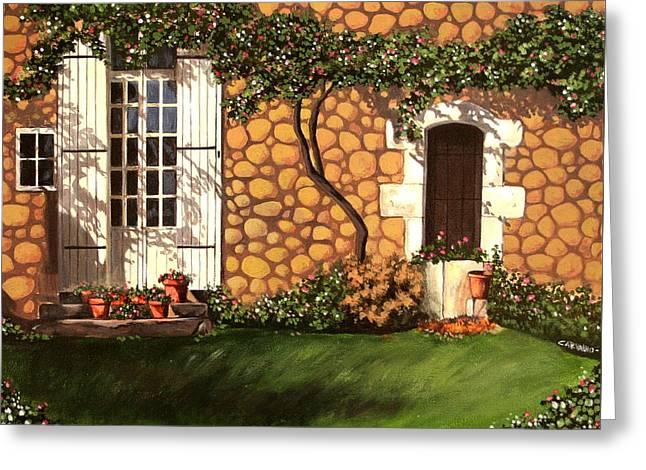 Garden Wall Greeting Card