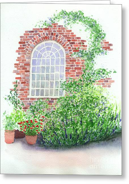Garden Wall Greeting Card