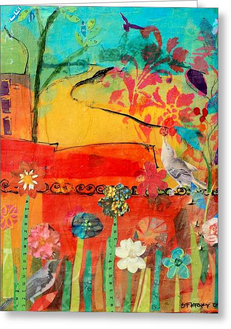 Garden Walls Greeting Card by Suzanne Kfoury